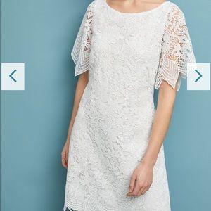 Dresses & Skirts - Anthropologie Lace Mini Dress. White. 26w